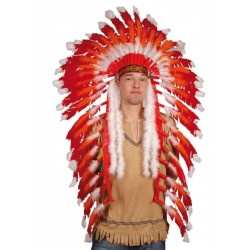 coiffe-chef-indien-plumes-rouges-et-blanches