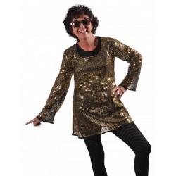 robe-tunique-paillettes-dorees-disco-t-38-40-night-fever