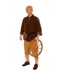 chemise-a-lacet-tunique-marron-medievale-taille-46-48