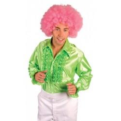 chemise-verte-a-froufrou-disco-taille-xxl