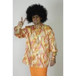 chemise-psychedelique-orange-vert-jaune-disco-annees-60-70