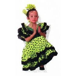 espagnole-sevillane-vert-anis-a-pois-noir-taille-1-2-ans