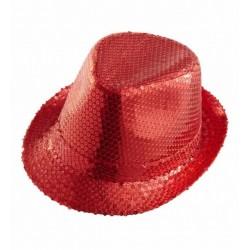 borsalino-en-tissu-rouge-avec-paillettes-rouges-taille-54