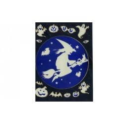 stickers-en-3d-d-halloween-sorciere-sur-un-balai-et-chat