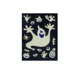 Stickers en 3D d'Halloween fantôme citrouille araignée