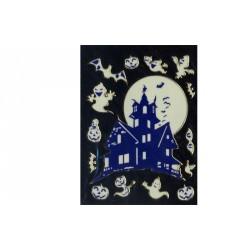Stickers en 3D d'Halloween château hanté chauve-souris