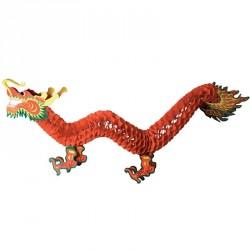 12 dragons chinois 90 cm décoration en papier alvéolé