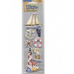 7 Stickles marins bateau ancre casquette boussole phare