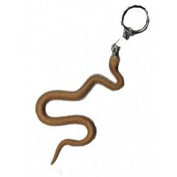 porte-clef-serpent-beige-ocre-9-cm-en-plastique