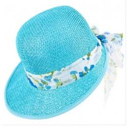 chapeau-d-ete-femme-casquette-visiere-paille-turquoise