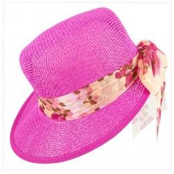 chapeau-d-ete-femme-casquette-visiere-paille-rose-fuchsia