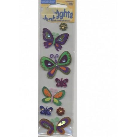6-stickles-papillons-2-stickles-fleurs-en-papier-foil-autocollan