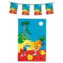 Guirlande theme des iles la mer la plage le sable les palmiers