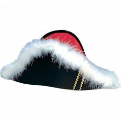chapeau-bicorne-pirate-feutrine-noire-tissu-rouge-marabout-blanc