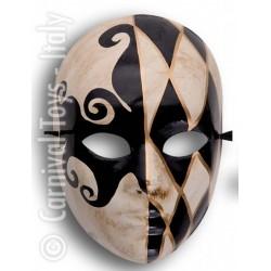 masque-volutes-creme-or-et-noir-arabesque-losanges
