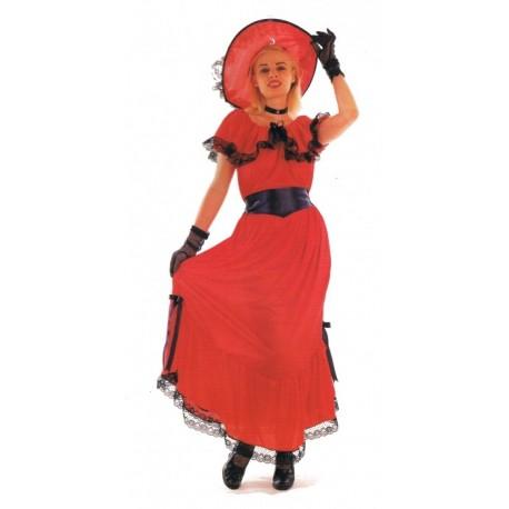 deguisement-scarlet-robe-rouge-dentelle-noire-taille-unique