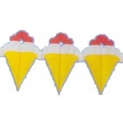 Guirlande de cornets de glace 360 cm ice cream