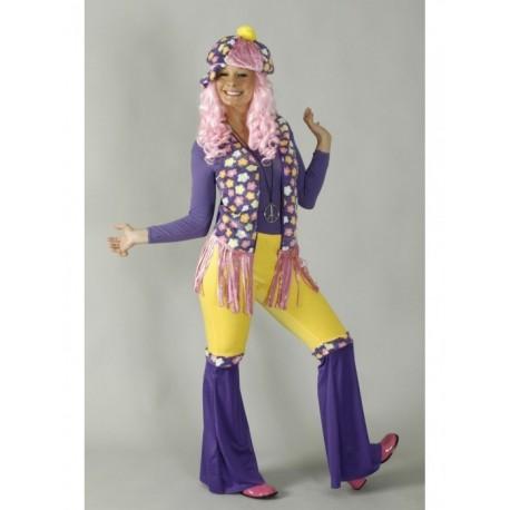 hippie-femme-violet-rose-et-fleurs-taille-38-40