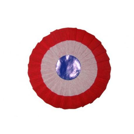 Cocarde en papier crépon bleu blanc rouge tricolore France