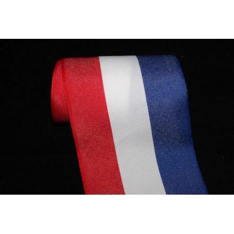 1 mètre ruban gros grain bleu blanc rouge tricolore couleur de la France