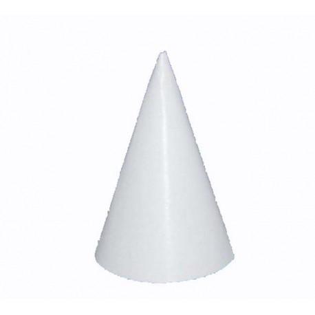 chapeau pointu en carton blanc 16 cm