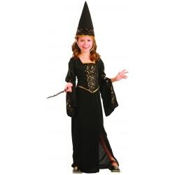 costume-de-sorciere-robe-longue-noire-et-doree-9-10-ans-130-140