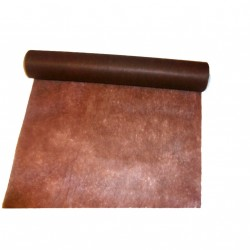 Chemin de table Elégance marron chocolat en intissé 10 m x 30 c
