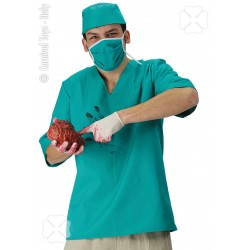 Infirmier tenue de chirurgien de l'horreur Le docteur fou