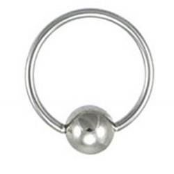 1 anneau 1.2 x 14 avec un perle clipable