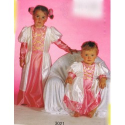 princesse rose et blanche taille 18 mois