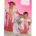 princesse rose et blanche taille 18 mois