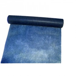 """Chemin de table """"Elégance"""" bleu en intissé 10 m x 30 cm"""