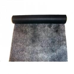 """Chemin de table """"Elégance"""" noir en intissé 10 m x 30 cm"""