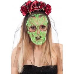 masque-blanc-decor-squelette-mexicain-noir-et-rouge