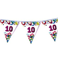 Guirlande d'anniversaire fanions colorés sur 6 mètres