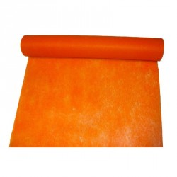 """Chemin de table """"Elégance"""" orange en intissé 10 m x 30 cm"""
