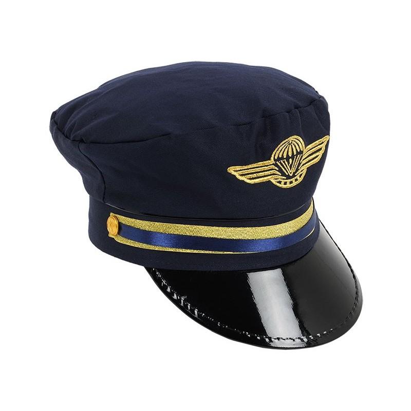 casquette de pilote de ligne  officier de l u0026 39 air tissu bleu
