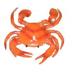 1 Crabe en caoutchouc crabe orangé