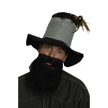 barbe noire mi longue avec moustache poils lisses festi fiesta. Black Bedroom Furniture Sets. Home Design Ideas