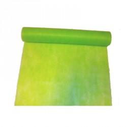 """Chemin de table """"Elégance"""" vert anis en intissé 10 m x 30"""