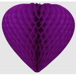 coeur-a-suspendre-rose-fuchsia-en-papier-alveole