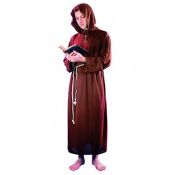 moine marron avec capuche taille unique adulte