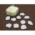 100 pétales de rose en tissu ivoire thermoformé