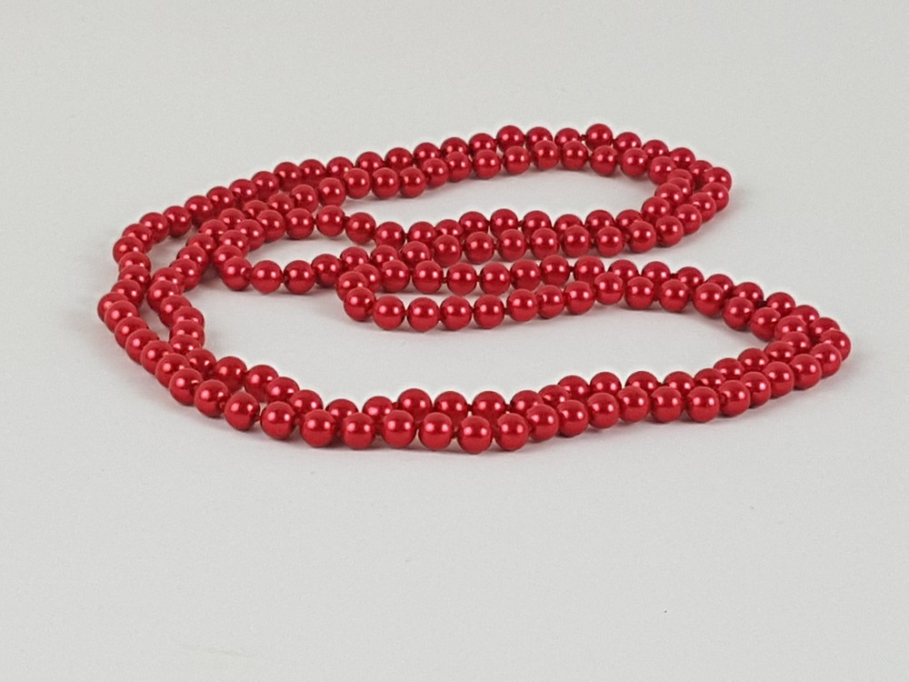 Accessoires de Mariage Collier de Perles de Mode Accessoires de Bijoux de V/êtements Ensemble de Bijoux Rouge,Collier de Perles et Boucles Doreilles en Perles Accessoires de Mariage Robe