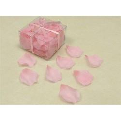 100 pétales de rose en tissu rose peche