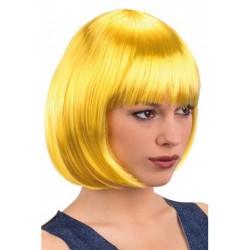 Perruque carré jaune pin-up Cabaret