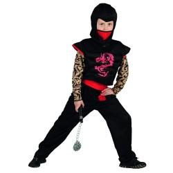 déguiseent de nija guerrier avec dragon manches façon tatouages