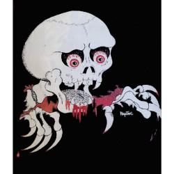 Tee shirt crane et mains de vampire vintage années 1990 horreur gore Halloween signé Krystaal