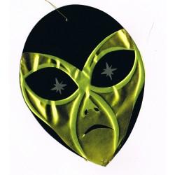 Découpe à suspendre en forme de tête d'alien phosphorescente