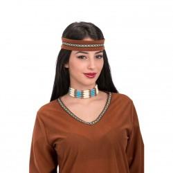 collier-d-indien-perles-ivoire-bleues-argent-et-faux-cuir